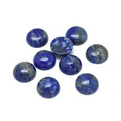 Natural Lapis Lazuli Cabochons, Half Round, 10x3~4mm(X-G-G788-C-01)