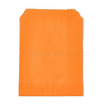 Eco-Friendly Kraft Paper Bags, Gift Bags, Shopping Bags, Rectangle, Orange, 18x13x0.02cm(AJEW-M207-C01-02)