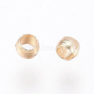 Brass Crimp Beads(X-KK-O102-07G)-2