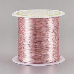 Copper Wire Copper Beading Wire, Long-Lasting Plated, Rose Gold, 0.3mm; 72m/roll(CWIR-F001-RG-0.3mm)