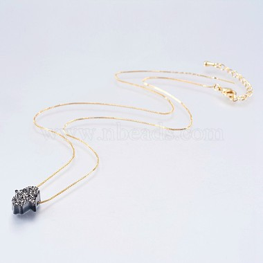 Gray Resin Necklaces