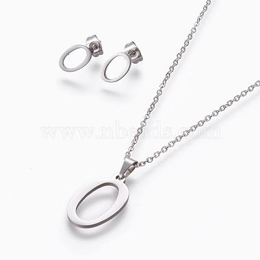 Stainless Steel Stud Earrings & Necklaces
