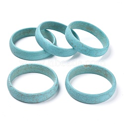 Synthetic Turquoise Bangles, Dyed, Inner Diameter: 2-3/4 inches(7.1cm)(BJEW-XCP0003-04)