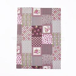 A4 autocollant de tissu auto-adhésif, enfants bricolage artisanat, motif de fleur, colorées, 29x21x0.05 cm(AJEW-WH0096-78A)