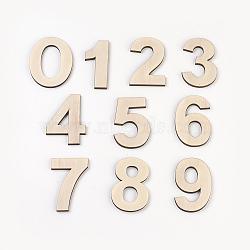 cabochons de bois, nombre, oldlace, 68~72x30~55.5x4~4.5 mm, 10 PCs / ensemble(WOOD-WH0012-01)