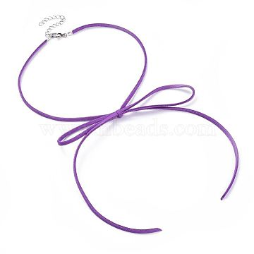 Purple Mixed Material Necklaces
