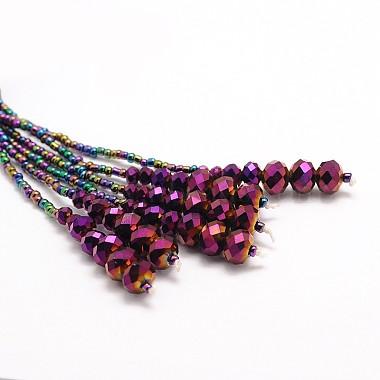 Glass Bead Lariat Necklaces(X-NJEW-O059-04F)-2