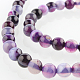 Natural Gemstone Agate Round Bead Strands(G-E232-10)-1