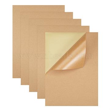 Kraft Paper Stickers, Self Adhesive Inkjet Laser A4 Printing Labels, BurlyWood, 29.5x21cm(X-AJEW-WH0055-02)