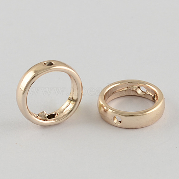 Alloy Bead Frames, Ring, Light Gold, 12x3mm, Hole: 1mm(X-PALLOY-R037-59)