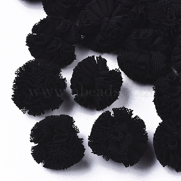 DIY Craft Polyester Ball, Round, Black, 22~25mm(AJEW-TAC0022-01)