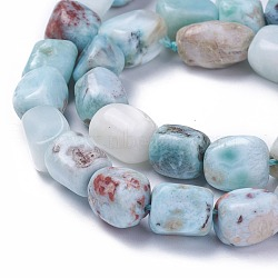 Chapelets de perles en larimar naturel, nuggets, 9~15x7~11x7~11mm, trou: 0.8mm; environ 32 pcs/chapelet, 15.1'' (38.5 cm)(G-G772-07)