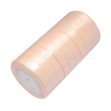 Satin Ribbon, Light Salmon, about 3/4 inch(20mm) wide, 25yards/roll(22.86m/roll)(X-RC20mmY007)