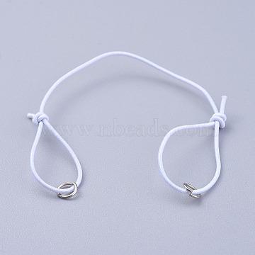 White Elastic Fibre Bracelet Making