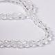 Half-Handmade Transparent Glass Beads Strands(X-GB4mmC01)-3