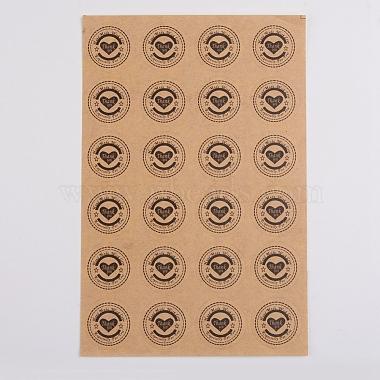 BurlyWood Flat Round Paper Stickers