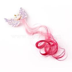 pinces à cheveux alligator imitation cuir, avec recherche de fibres chimiques et de fer, licorne, pour les petites filles tout-petits enfants enfants, rose, 280 mm(PHAR-WH0006-12B)