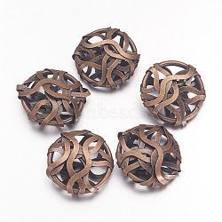Perles de fil de fer, ovale, bronze antique, environ 19 mm de large, Longueur 20mm, épaisseur de 7mm(IFIN-D003-AB)