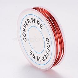 fil de bijoux de cuivre, rouge, Jauge 18, 1 mm; 2.5 m / rouleau(X-CWIR-CW1mm-13)