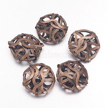 Antique Bronze Oval Iron Beads