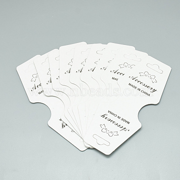 White Paper Necklace Display Cards