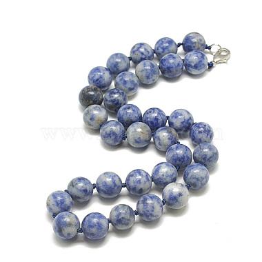 Blue Spot Stone Necklaces