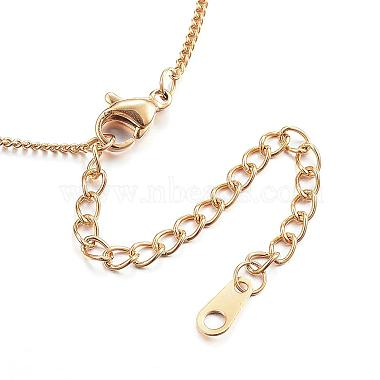 304 Stainless Steel Necklaces(NJEW-E080-11G)-2