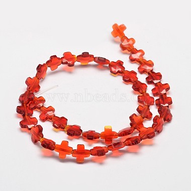 Cross Faceted Synthetic Quartz Bead Strands(G-M258-25A)-2