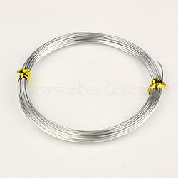 Fils d'aluminium, argenterie, 20 jauge, 0.8 mm; environ 20 m/rouleau(X-AW-AW20x0.8mm-01)