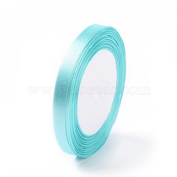 Satin Ribbon for Hairbows Headband, Lt.Cyan, 3/8 inch(10mm) wide, 25yards/roll(22.86m/roll)(X-RC011-11)