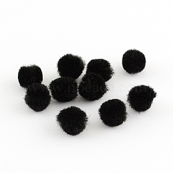 Poupée bricolage artisanat pom pom boules de pom pom, noir, 12mm, environ 1000 pcs / sachet (AJEW-S006-12mm-09)