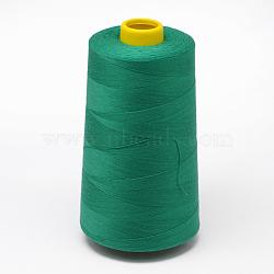 100% polyester filé fil à coudre de fibres, mediumseagreen, 0.1 mm; sur 5000 mètres / rouleau(OCOR-O004-A48)