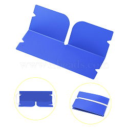 Portable Foldable Plastic Mouth Cover Storage Clip Organizer, for Disposable Mouth Cover, DodgerBlue, 190x120x0.3mm(AJEW-E034-71A)