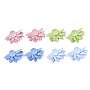 Mixed Color Flower Iron Earring Settings(IFIN-N004-02)