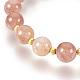 Natural Strawberry Quartz Bracelets Sets(BJEW-JB03913-01)-3