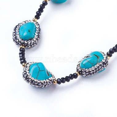 Natural Howlite Necklaces(NJEW-G323-01)-2