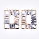 Handmade Raffia Woven Linking Rings/Pendants(WOVE-S120-05A)-2