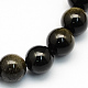 Natural Golden Sheen Obsidian Round Beads Strands(X-G-S157-8mm)-1