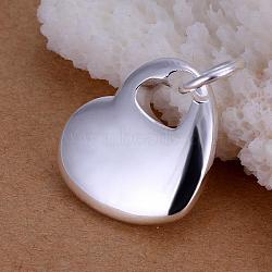 Coeur en laiton dans pendentifs coeur, argenterie, 26x19mm(KK-BB11574)
