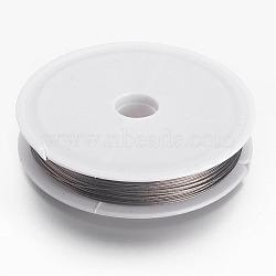 Tiger Tail Wire, Nylon-coated Stainless Steel, Silver, 0.45mm, 50m/roll(X-L0.45mm01)