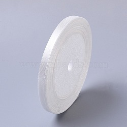 "1/4"" (7mm) satin blanc ruban couture de mariage bricolage, 25yards / roll (22.86m / roll)(X-RC012-42)"