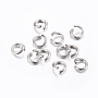 Stainless Steel Color Ring Stainless Steel Open Jump Rings(STAS-H437-10x1mm)