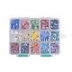 15 Colors Pearlized Plated Handmade Porcelain Cabochons(PORC-JP0001-03-C)-3