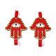 Handmade Seed Beads Links Connectors(SEED-I012-07A)-1