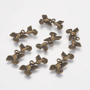 100pcs Tibetan Style Heart Charms Cadmium Free /& Nickel Free /& Lead Free Silver