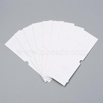 Cardboard Display Cards, Used For Necklace, Bracelet, Rectangle, Ivory, 14x5cm(CDIS-T003-30)