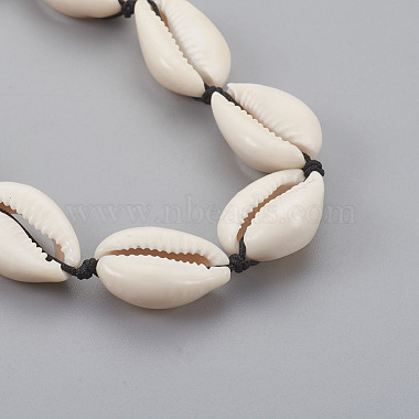 Cowrie Shell Beaded Necklaces(X-NJEW-JN02293)-2