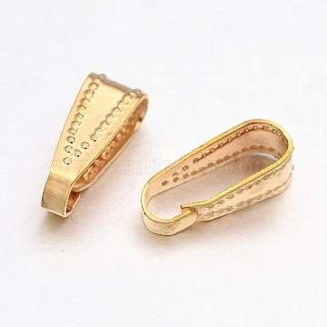 Brass Snap on Bails, Golden, 11x4x4mm, Hole: 3x10mm(KK-J261-01G)