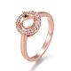Environmental Brass Finger Ring Components(MAK-F030-12-NR)-2