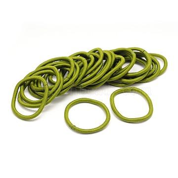 Girl's Hair Accessories, Nylon Thread Elastic Fiber Hair Ties, Olive, 44mm(X-OHAR-J022-13)